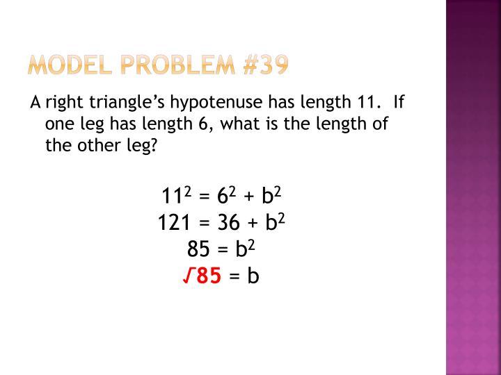 Model Problem #39