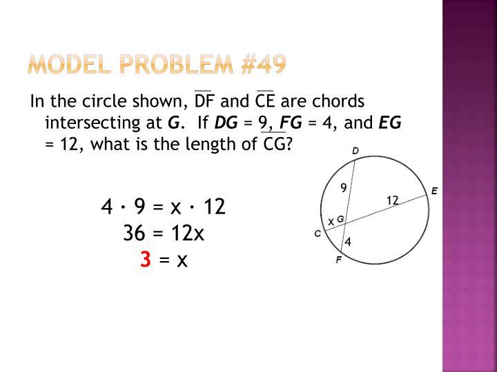 Model Problem #49