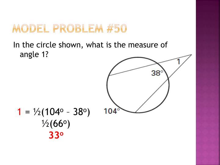 Model Problem #50