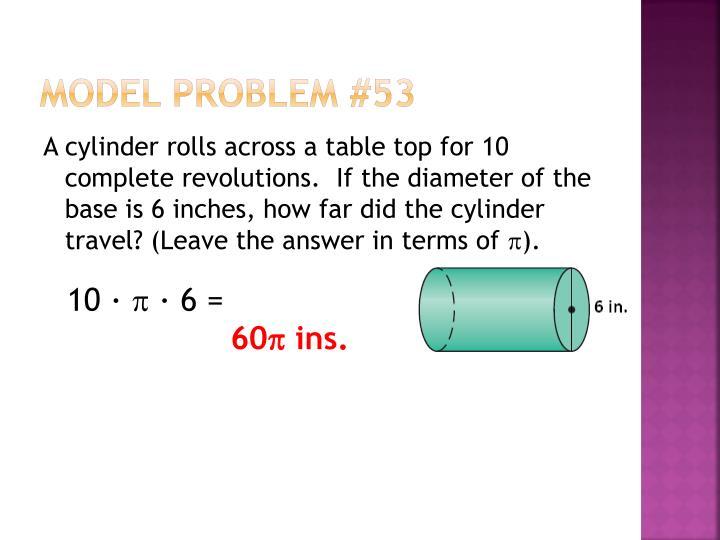 Model Problem #53