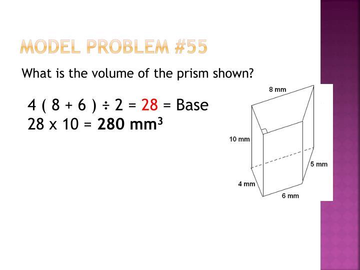 Model Problem #55