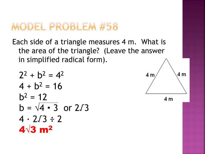 Model Problem #58