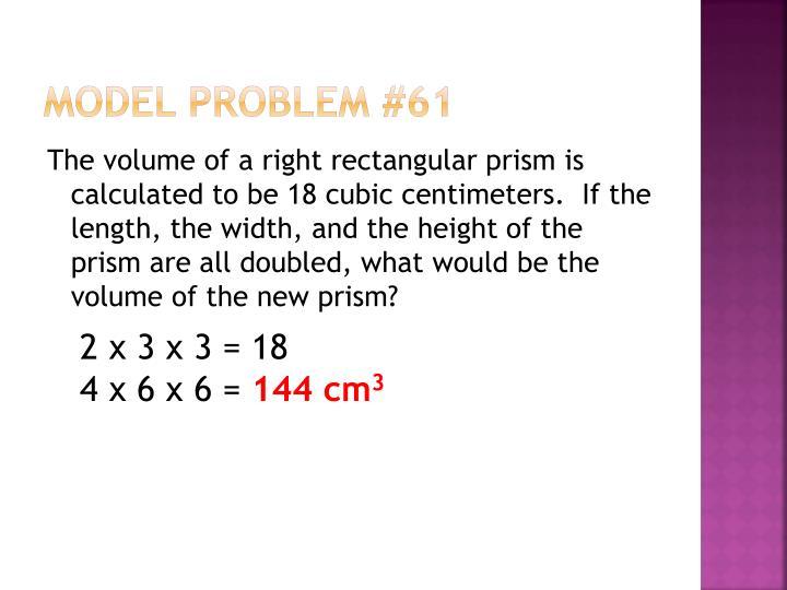 Model Problem #61