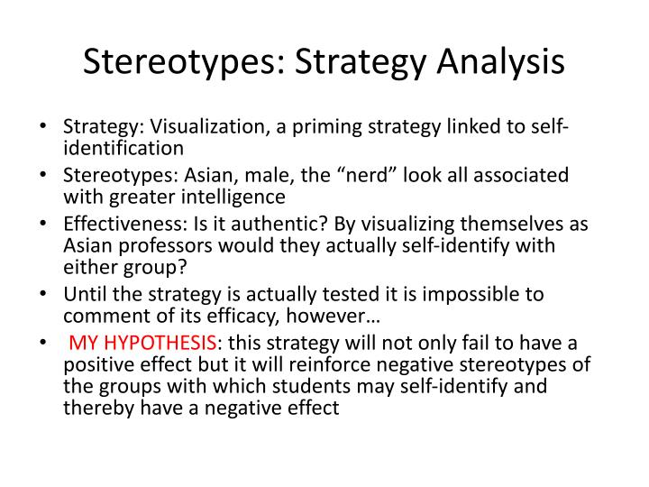 Stereotypes: Strategy Analysis