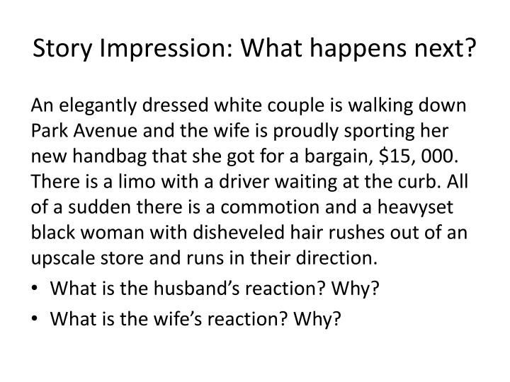 Story Impression: What happens next?