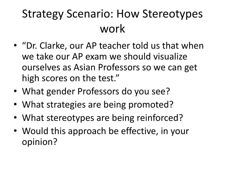 Strategy Scenario: How Stereotypes work
