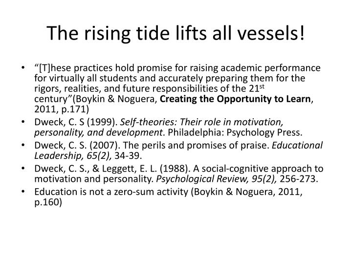 The rising tide lifts all vessels!
