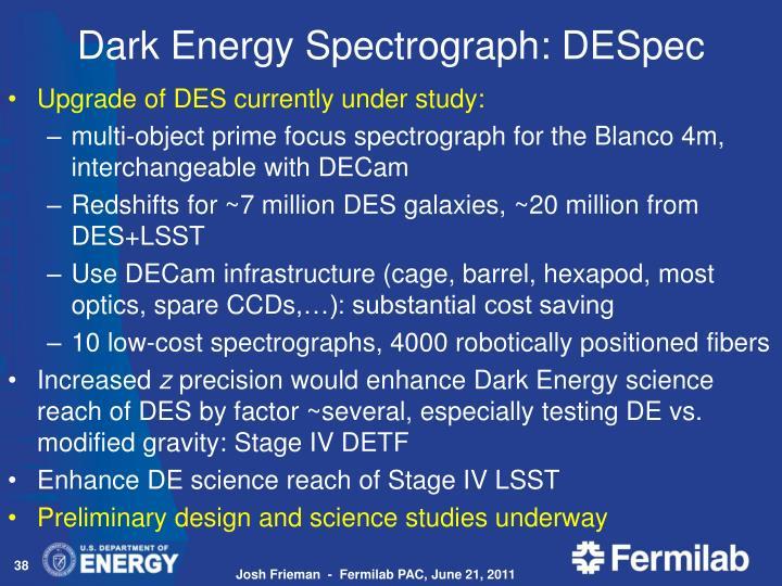 Dark Energy Spectrograph: