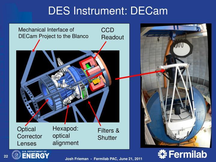 DES Instrument:
