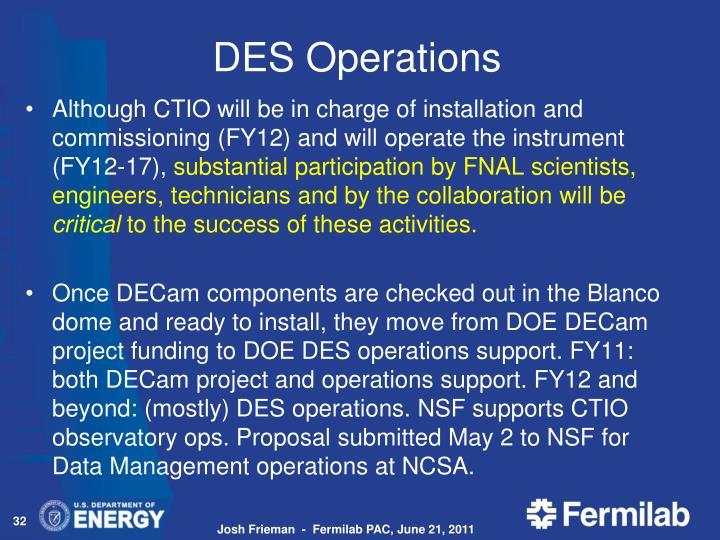 DES Operations