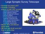 large synoptic survey telescope1