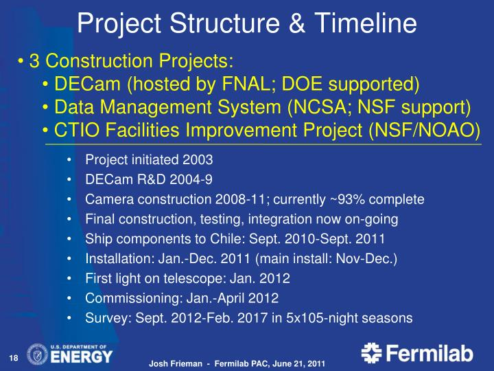 Project Structure & Timeline