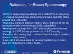 rationales for blanco spectroscopy