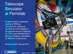 telescope simulator at fermilab