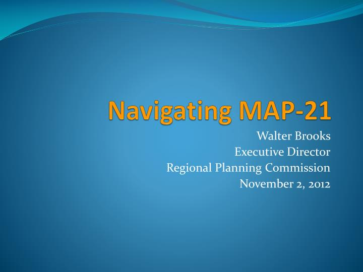 Navigating map 21