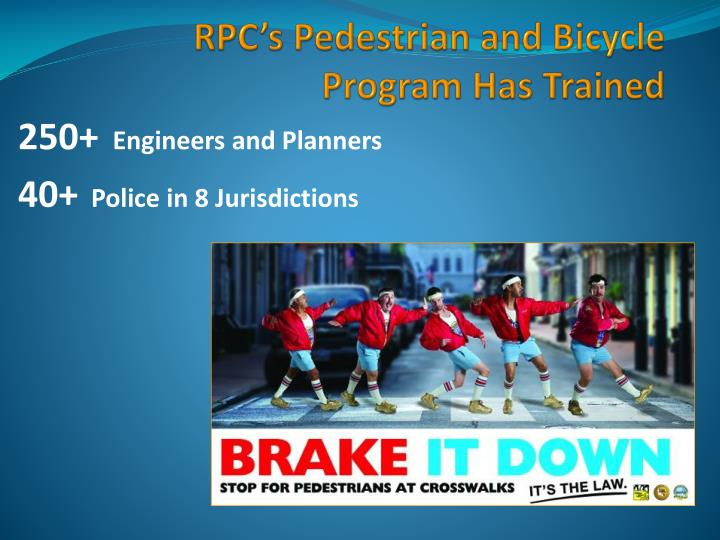 RPC's Pedestrian and Bicycle Program Has Trained