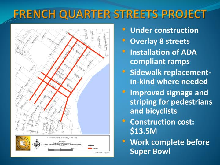 French Quarter Streets Project