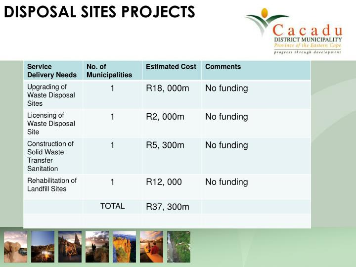 DISPOSAL SITES PROJECTS
