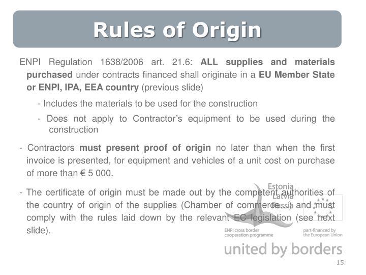 Rules of Origin