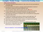 examples module design construction bonding issues10