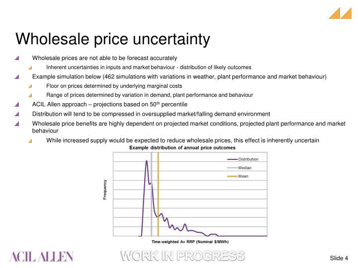 Wholesale price uncertainty