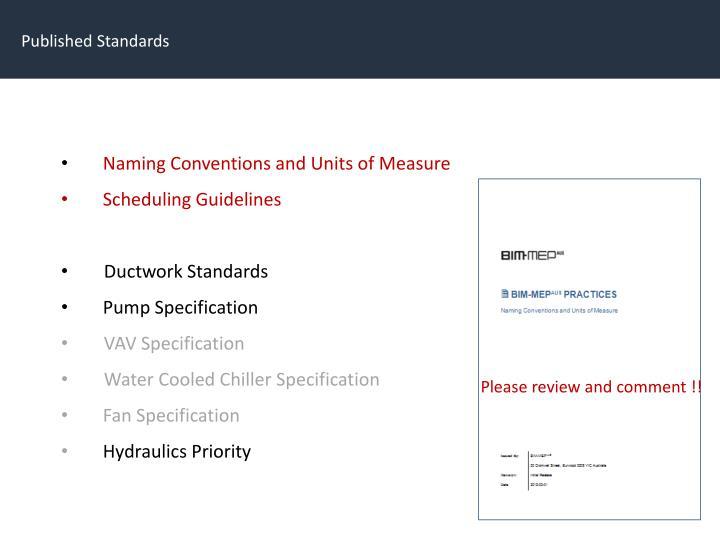Published Standards