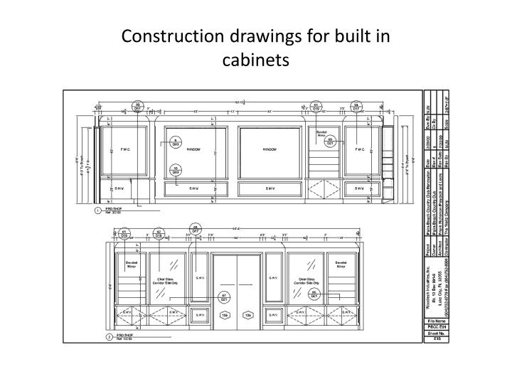 Construction drawings for built in