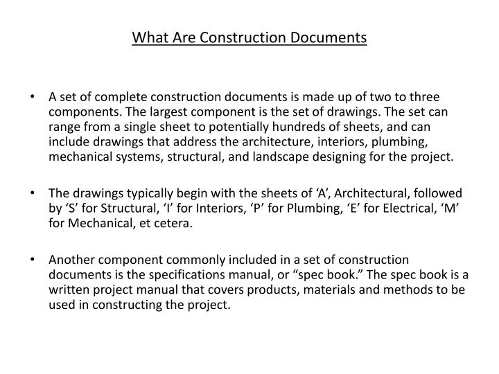 What Are Construction Documents