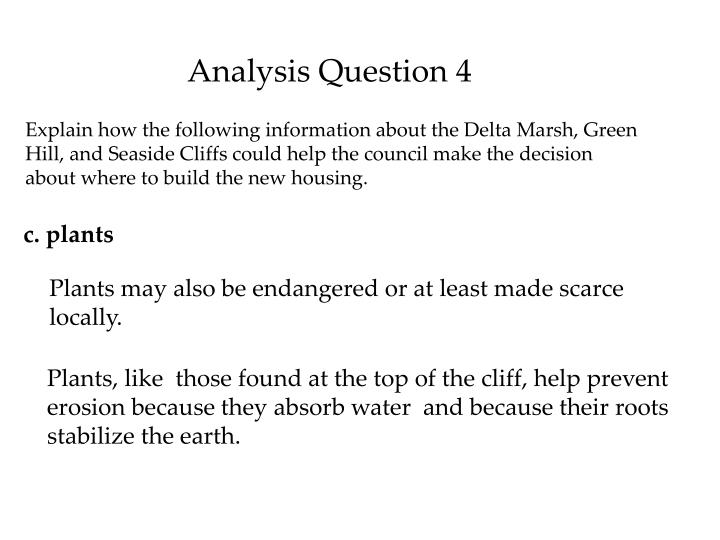 Analysis Question 4