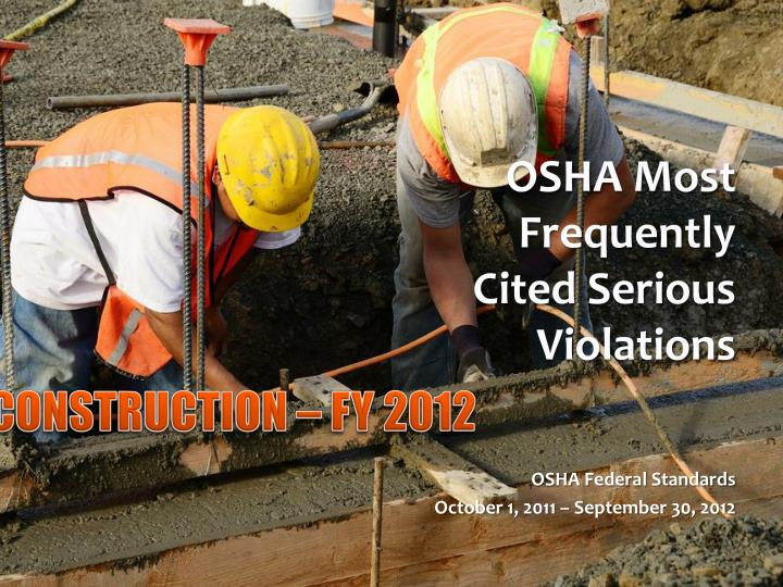 OSHA Most Frequently Cited Serious
