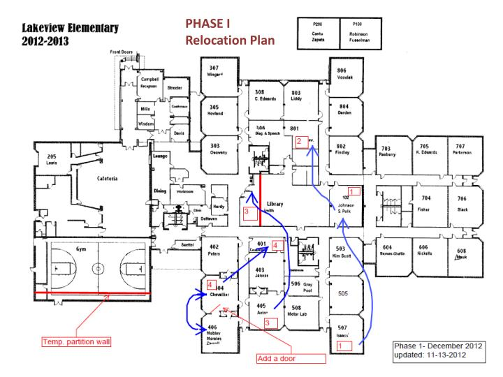 PHASE I Relocation Plan