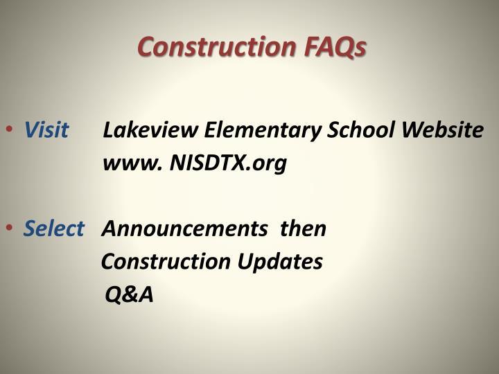 Construction FAQs