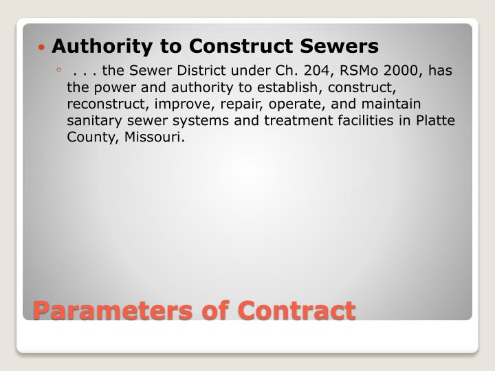 Authority to Construct Sewers
