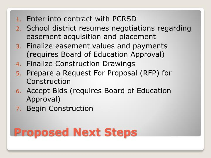 Enter into contract with PCRSD