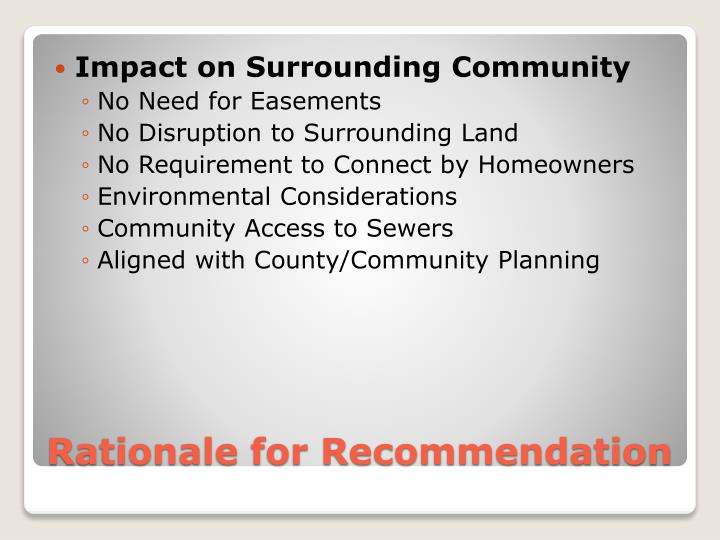 Impact on Surrounding Community