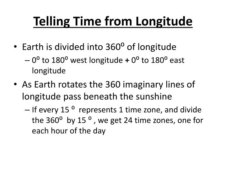 Telling Time from Longitude