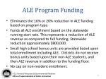 ale program funding