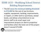 eshb 1633 modifying school district bidding requirements