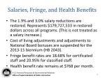 salaries fringe and health benefits