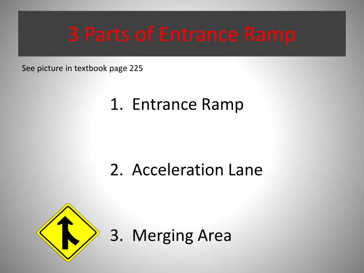 3 Parts of Entrance Ramp
