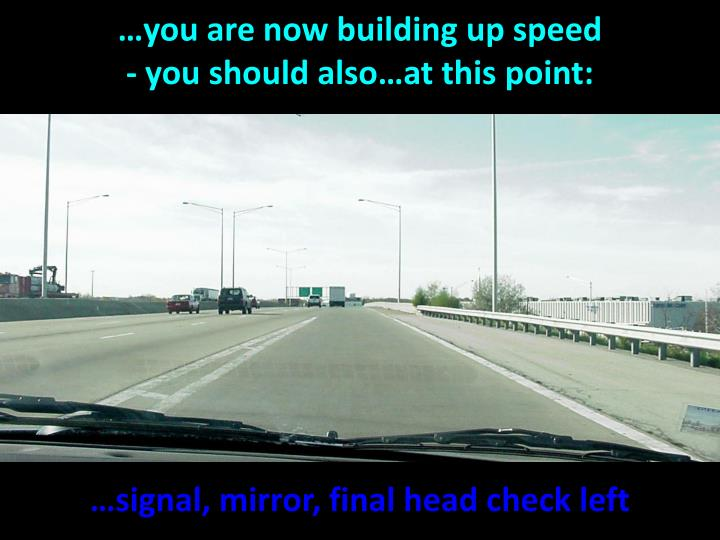 …you are now building up speed