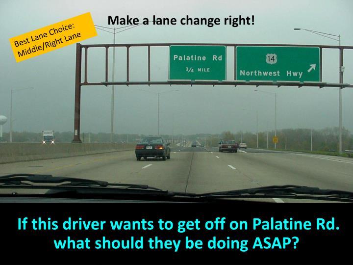 Make a lane change right!
