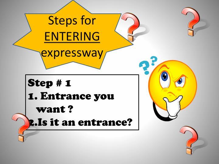 Steps for