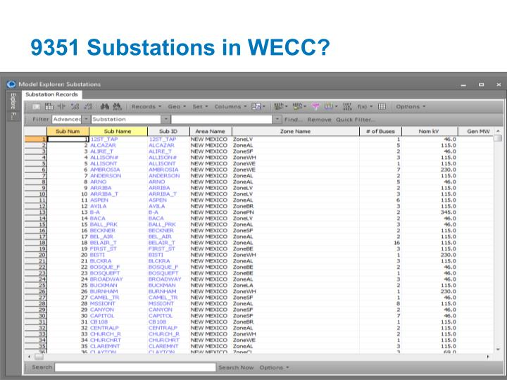 9351 Substations in WECC?