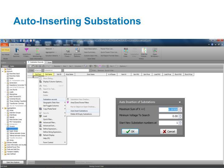 Auto-Inserting Substations