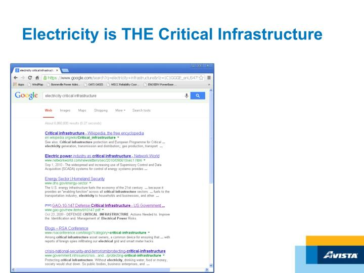 Electricity is THE Critical Infrastructure