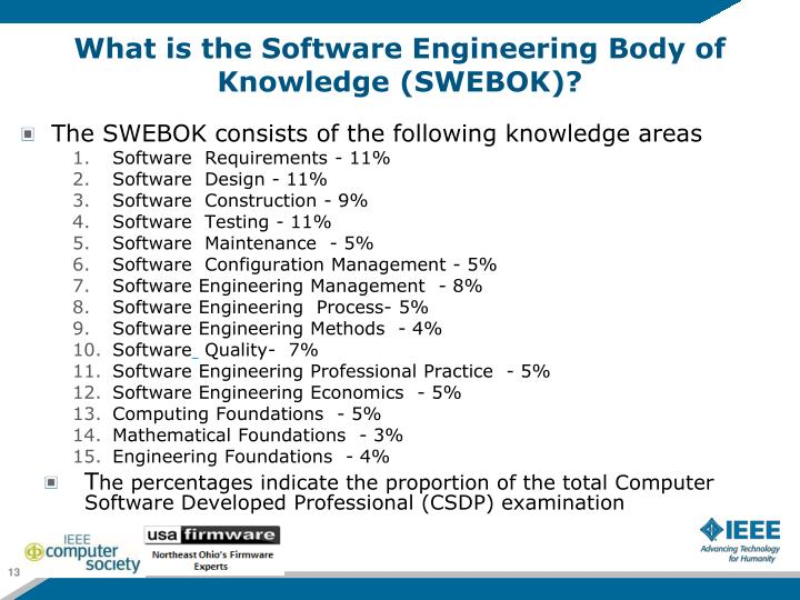 What is the Software Engineering Body of Knowledge (SWEBOK)?