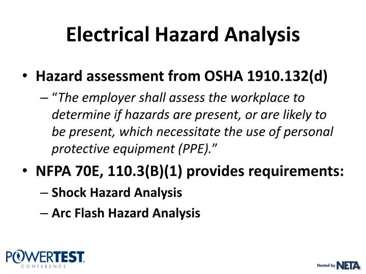 Electrical Hazard Analysis