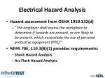 electrical hazard analysis2