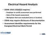 electrical hazard analysis3